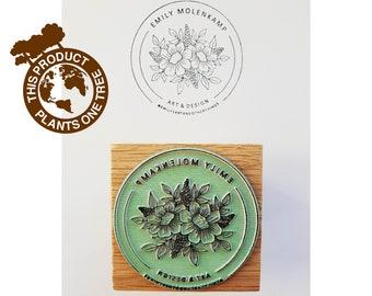 Logo stamp, custom logo stamp, business stamp, packaging stamp, stationery stamp, stamp for business, stamper, branding stamp, text stamp