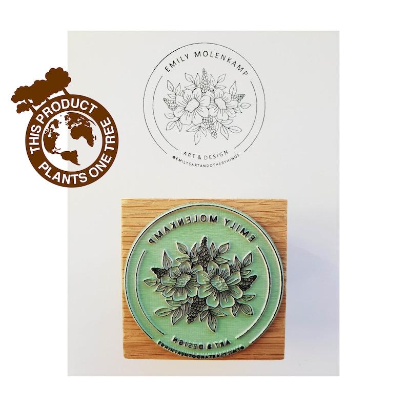 Logo stamp custom logo stamp business stamp packaging image 0