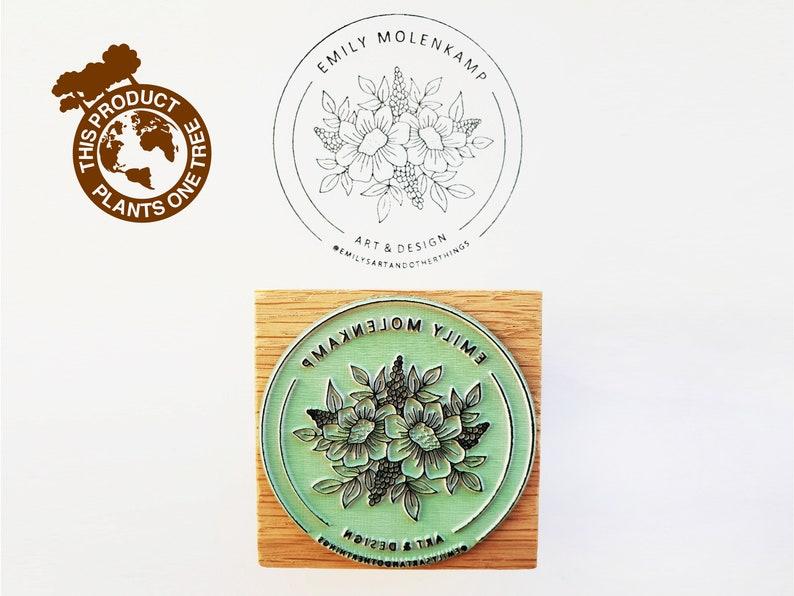 Logo stamp custom logo stamp business stamp packaging image 1