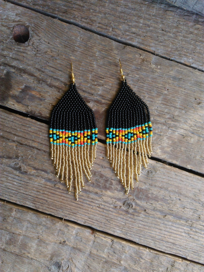45266d2c4eaa1 Native American style Beaded Earrings,Dangling Earrings,chandelier,Native  jewelry,ñative american indian style beadwork earrings