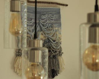 """Tapestry / Woven Wallhanging / Handwoven """"Cloudburst"""""""