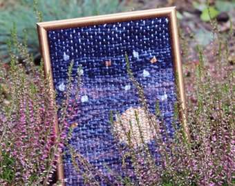 """Soft home decoration / woven wall hanging / wool wall hanging / handwoven tapestry / wall art """"Starry, Starry Night"""""""