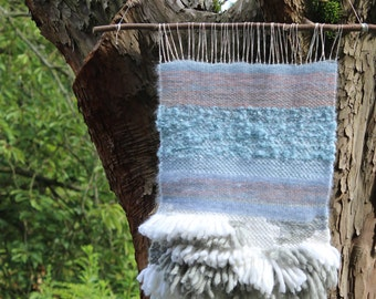 """Soft home decoration / Woven Wall Hanging / Wool Wall Hanging / Handwoven Tapestry / Wall Art """"Stormy"""""""