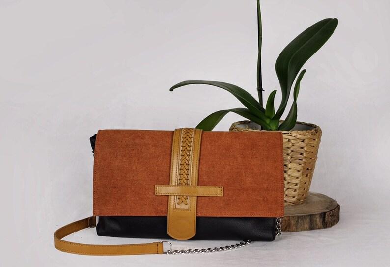 12649d0c99 Pochette in pelle borsa a mano con tracolla borsetta | Etsy