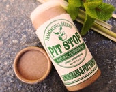 Pit Stop - Lemongrass Peppermint - Natural Organic Deodorant- Plastic Free Push-up Tube- Coconut Oil, Shea Butter, Beeswax, Essential Oils