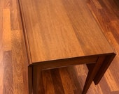 Vintage Walnut Drop Leaf Coffee Table or End Table.