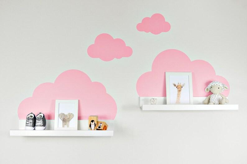 Wall Decal Clouds In Rosa For Ikea Shelf Board Ribbamosslanda Etsy