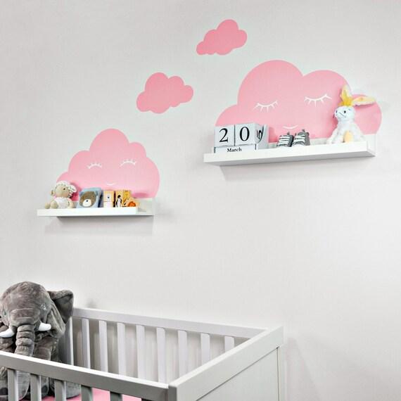 Wandtattoo Wolken Rosa Mit Augen Fur Ikea Regalbrett Etsy