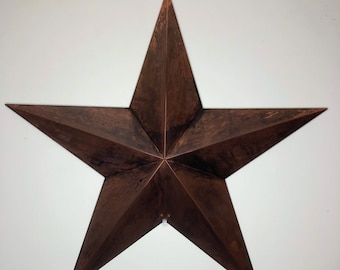 Rustic 16oz Copper or 24G Galvanized 3D Stars *Ideal for Farm House!*