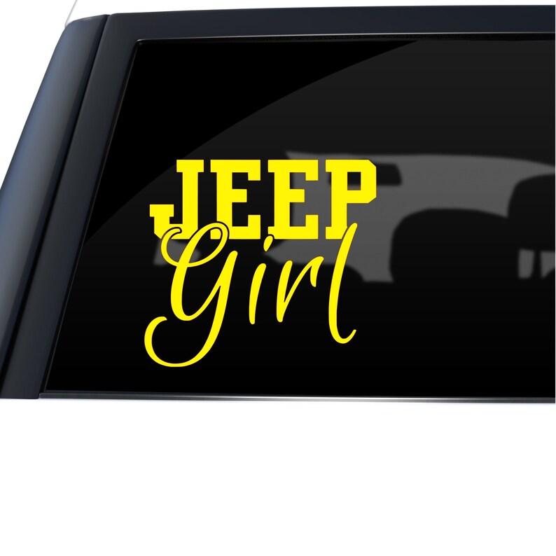 Jeep Window Sticker Car Decal Jeep Girl Window Decal Jeep Decal Jeep Gift