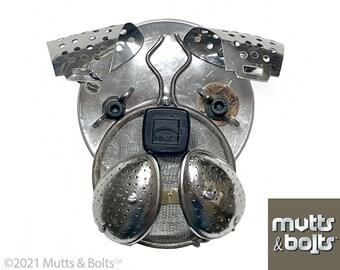 Metal MINI Dog Sculpture/Bulldog/Upcycled