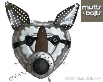 Metal Animal Sculpture/Raccoon/Upcycled