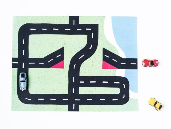 Car Play Mat 2 Ramp And Jump Mat For Mini Toy Cars Etsy