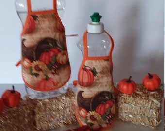 Thanksgiving Dish Soap Bottle Apron