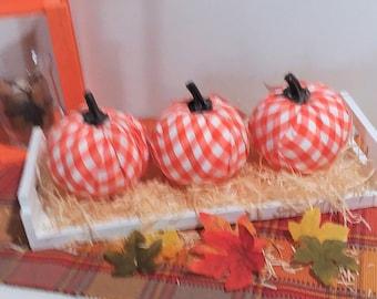 Pumpkins On A Tray Fall Decor