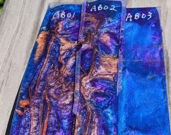 Pen Blank - Blue Orange Purple  - Alumilite
