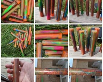 Neon Marble Resin Pen Blanks