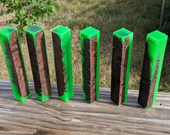 Hybrid Pen Blanks - Banksia Pod Neon Green