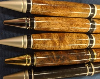 Burl Wood Pen - Cigar - Asian Satinwood