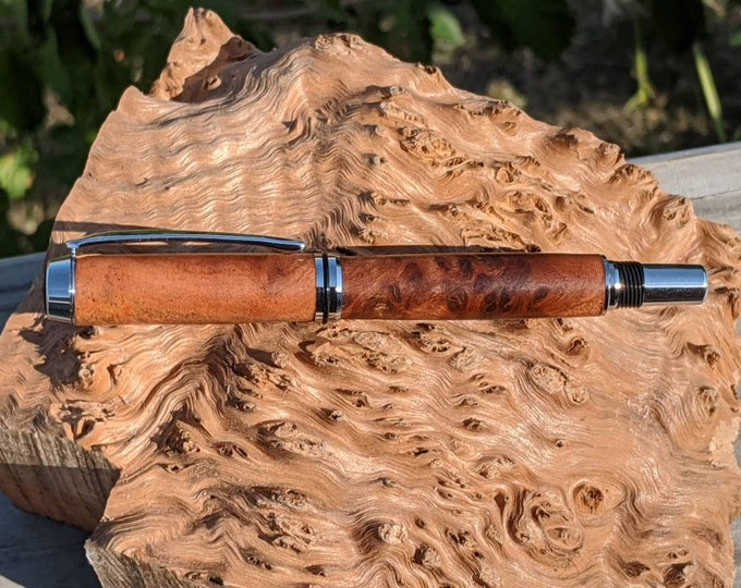 Rollerball Pen - Coolibah Red Burl - Wood Pen