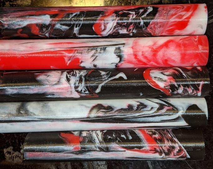 Alumilite Pen Blank - Red Black White