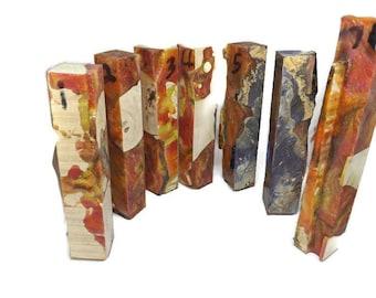 Hybrid Pen Blank - Curly Cottonwood - Flames