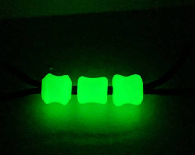 Paracord Lanyard Bead for EDC, Knive, Keyring or Flashlight - Neon Green Glow