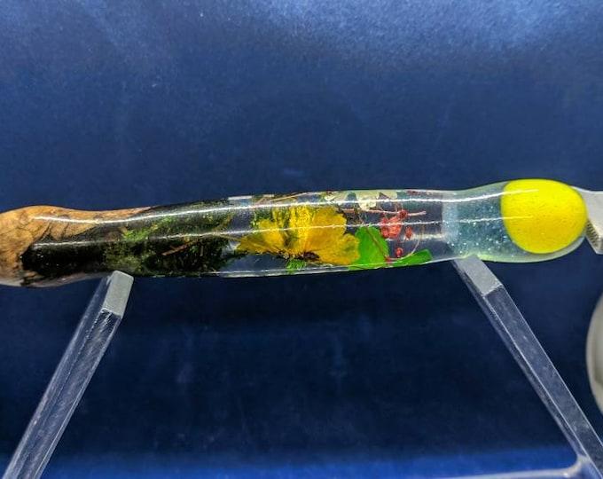 Diamond Painting Pen Handmade - Dried Flowers wood burl