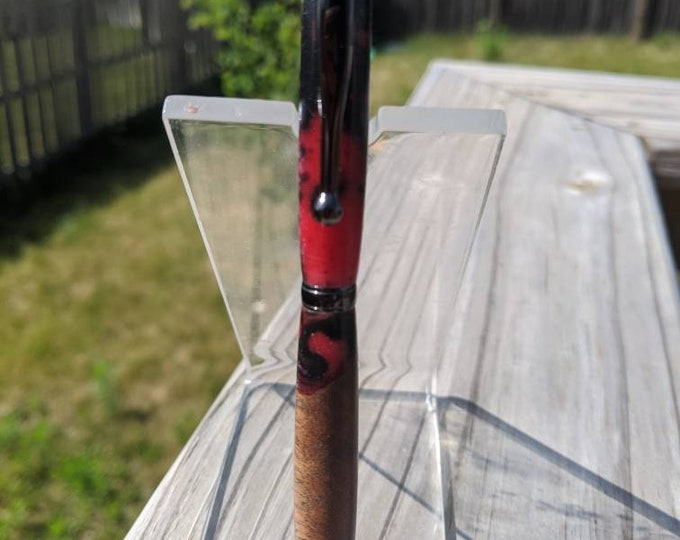 Resin and Wood Pen Hybrid - Red Black
