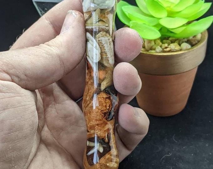 Diamond Painting Pens Handmade - Seashells Shark Teeth Burl Wood