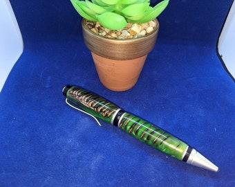 Custom Cigar Pen - Pinecone Emerald Green