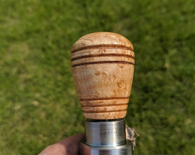 Bird's Eye Maple Wood Wine Stopper