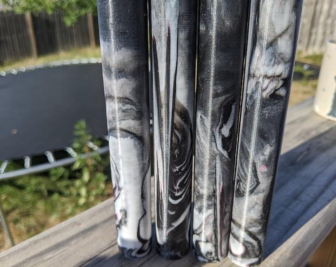 Alumilite Pen Blank - Black White