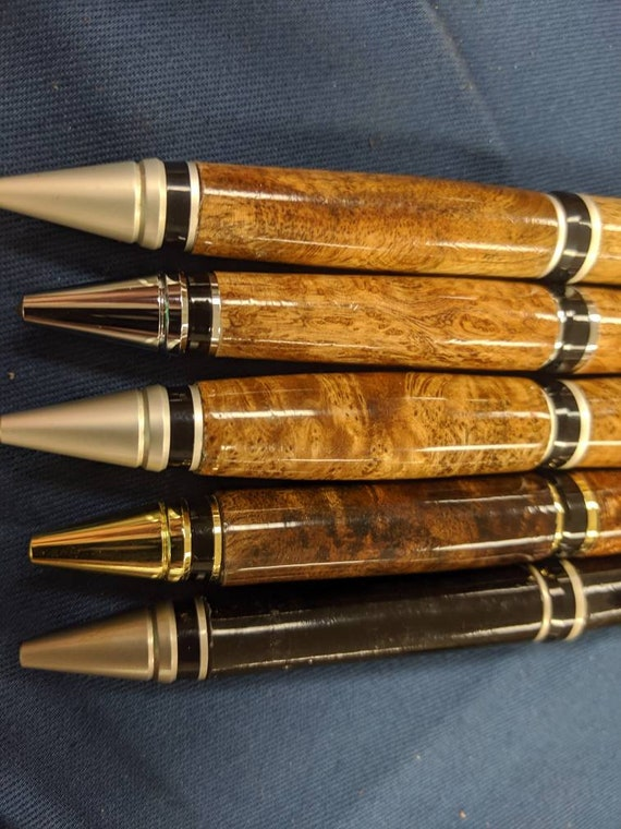 Asian Satinwood Burl Wood Pen Cigar style