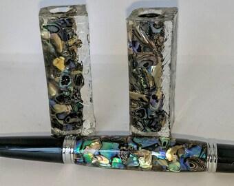 Paua Abalone Shell Pen Blank - Sierra - Alumilite