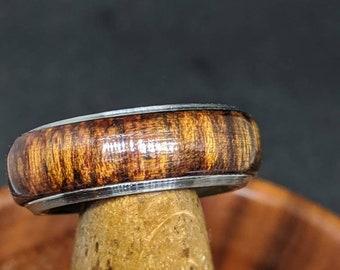 Wood Wedding Band -Mens Wood Ring
