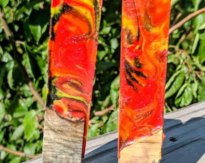 Alumilite Pen Blank - Hybrid Samhain Buckeye Burl
