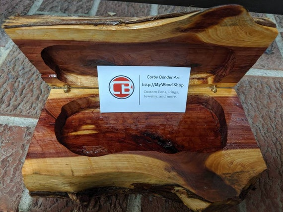 Handmade Cedar Wood Jewelry Box Gift Box