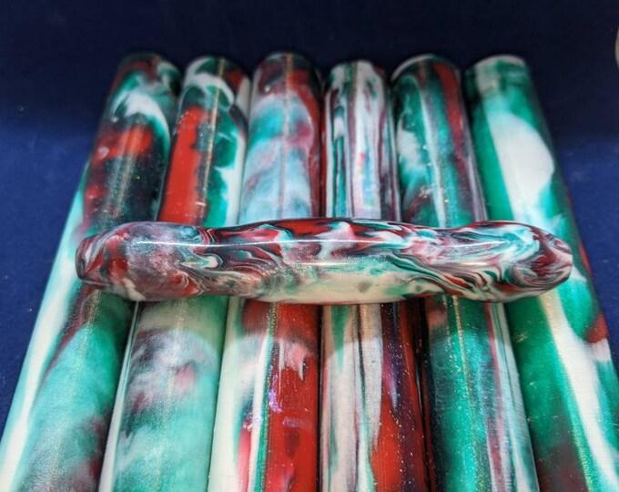 Christmas pen Blanks Alumilite Red Green White