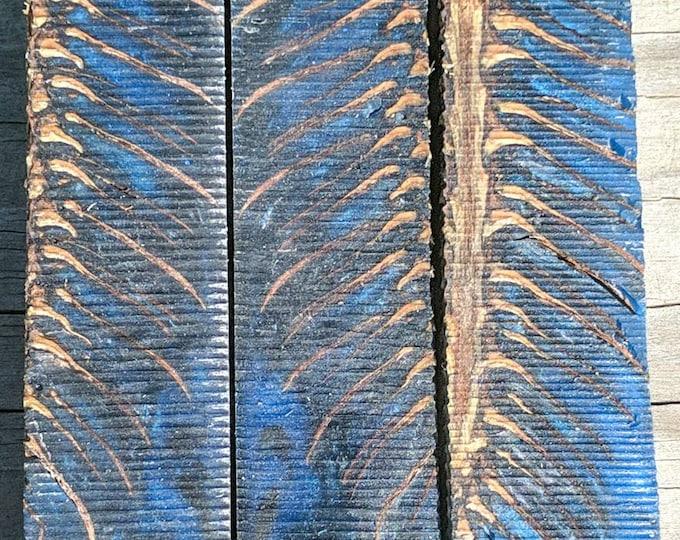 Hybrid Pen Blanks - Blue and Dark gray