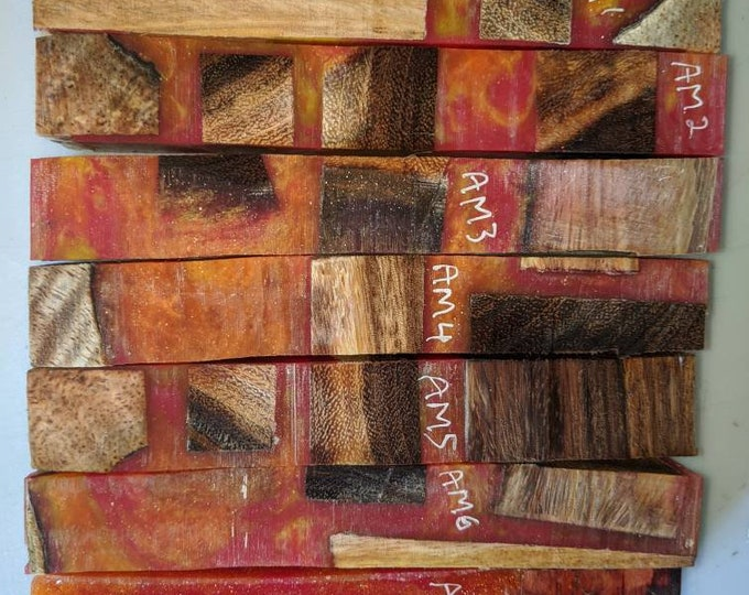 Hybrid Pen Blanks - Wood and Resin