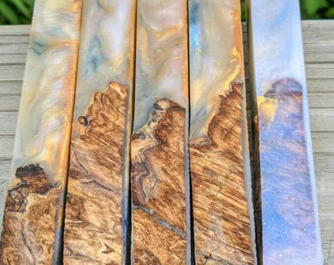 Hybrid Pen Blanks - Wood Burl and Resin