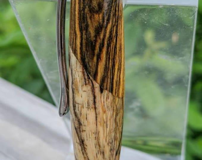 Segmented Walnut & Spalted Tamarind Turned Wood Pen