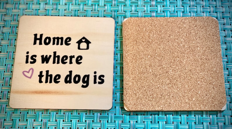 pet lovers gifts for pet lovers coasters for pet lovers Set of 4 Wood coasters coasters