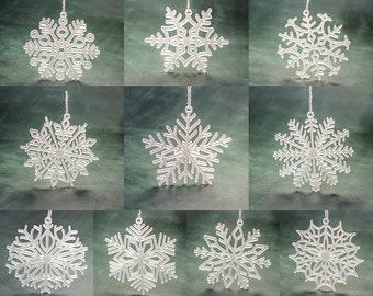 more colors set of christmas acrylic snowflake