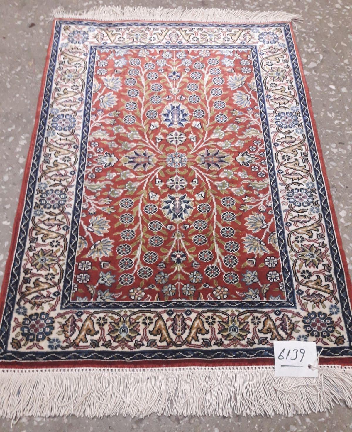 Pure Silk Rug Silk Carpet Turkish Rug 1.64 X 2.23 Ft 0.50