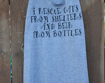 I Rescue Cats and Beer
