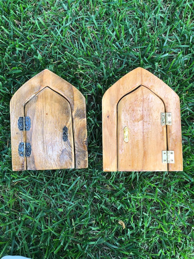 Outdoor Fairy Door for Gnomes, Elves, and Sprites | Functional Miniature  Wood Door
