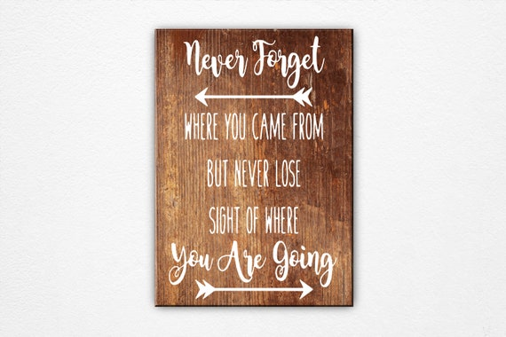 Never Lose Sight Sign Home Decor Wall Art Wood Signs Graduation Gift Inspirational Wall Art Office Wall Decor Wood Sign Saying