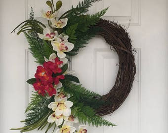 Tropical Wreath Etsy